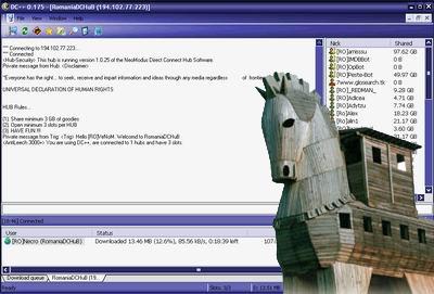 DC++ met trojan horse