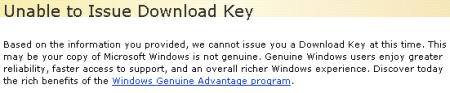 Downloadblokkering bij illegaal Windows-gebruik