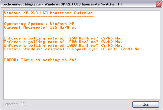 USB Mouserate Switcher 1.1 screenshot