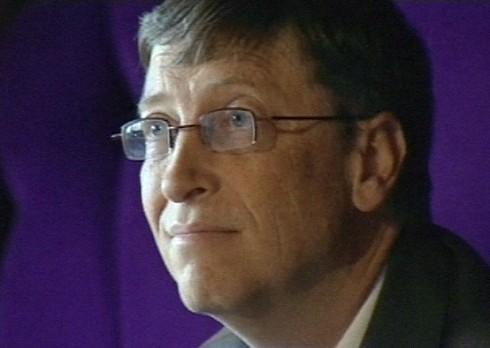 Bill Gates op persconferentie