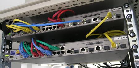 Nieuwe HP Switches in het Rack gemonteerd