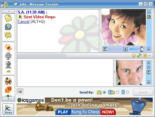 ICQ 5 videochat