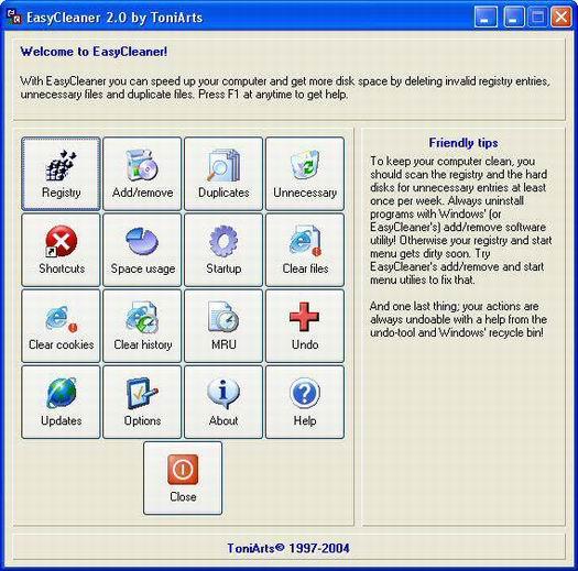 EasyCleaner screenshot (resized)