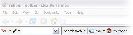 Yahoo Toolbar voor Mozilla Firefox (blend)