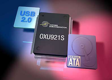Oxford Semiconductors Serial ATA-to-USB 2.0 bridgechip