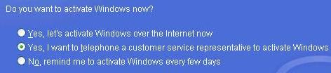 Windows XP Activatie