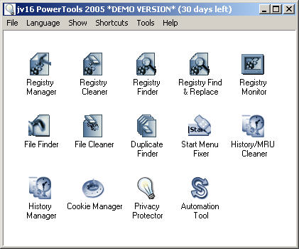 jv16 PowerTools 2005 screenshot