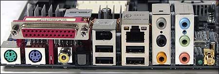 Asus A8V-E Deluxe aansluitingen