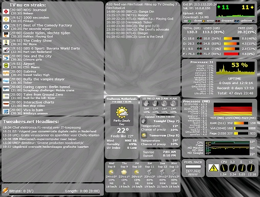 Samurize-desktop van MRic3 (klein)