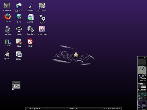 Damn Small Linux 1.0 RC1 (klein)