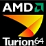 AMD Turion 64 logo zwart 67x67