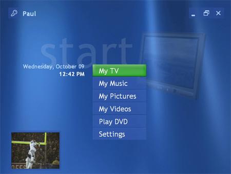 Windows XP MCE start (medium)
