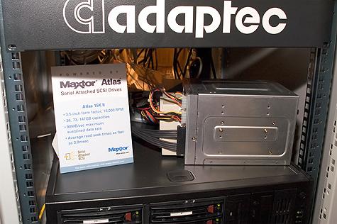CeBIT 2005: Adaptec SAS demo