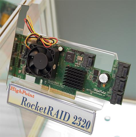 CeBIT 2005: HighPoint RocketRAID 2320 (PCIe SATA II RAID)