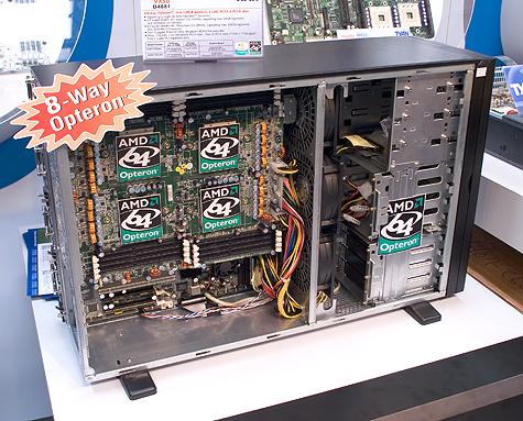 CeBIT 2005: Tyan 8-way Opteron