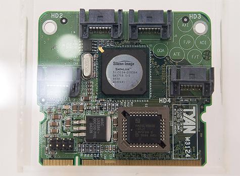 CeBIT 2005: Silicon Image Sil 3124-2 Taro-uitbreidingskaart