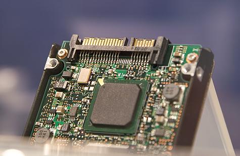 CeBIT 2005: Fujitsu MAV SAS-connector