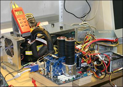 Opstelling van Finse 6800GT SLI stikstofkoelingopstelling