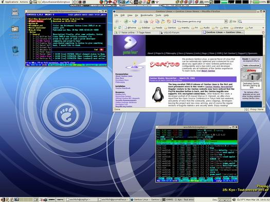 Gentoo Linux desktop (resized)