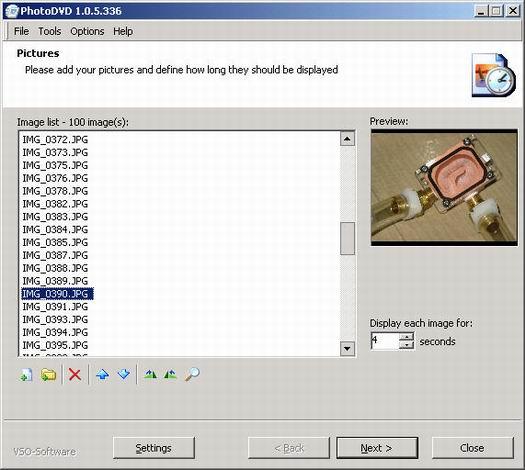 PhotoDVD 1.0.5 screenshot