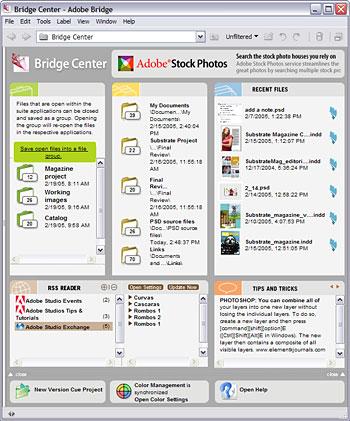 Adobe Bridge voor Creative Suite 2