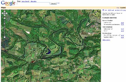 Google Maps satellietfoto's klein