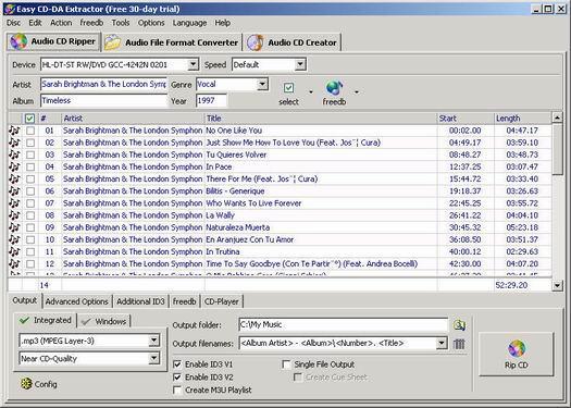 Easy CD-DA Extractor 8.1 screenshot (resized)