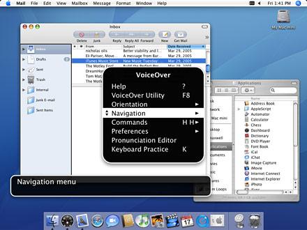 Voiceover Mac OS X Tiger
