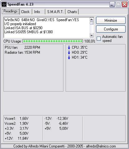 SpeedFan 4.23 screenshot