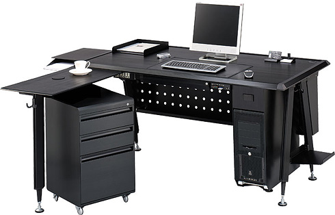 lian li combineert case met bureau it pro nieuws tweakers. Black Bedroom Furniture Sets. Home Design Ideas