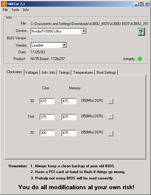 NiBiTor 2.1 screenshot