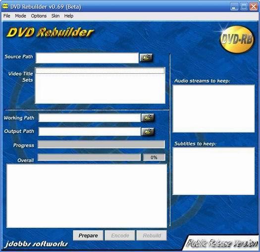 DVD ReBuilder screenshot (resized)