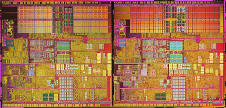 De dual-core Pentium Extreme Edition 840 die