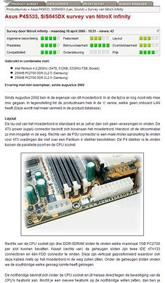 Productsurvey screenie 1