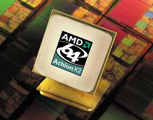 AMD Athlon 64 X2 (500px - wafer achtergrond)