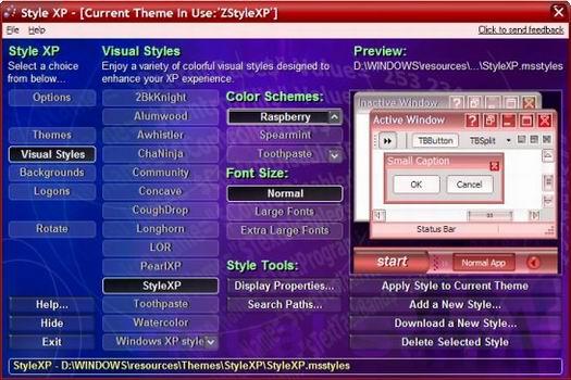 Style XP screenshot (resized)