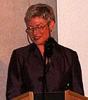 Minister Maria van der Hoeven tijdens de in gebruik name van Stella