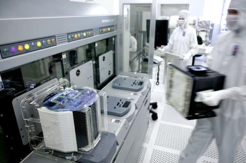Waferproductie in AMD Fab 36, Dresden