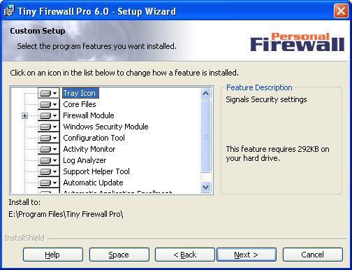 Tiny Personal Firewall 6.0 screenshot