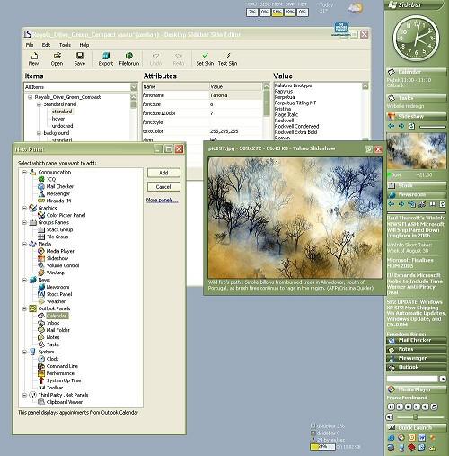Desktop Sidebar screenshot (klein)