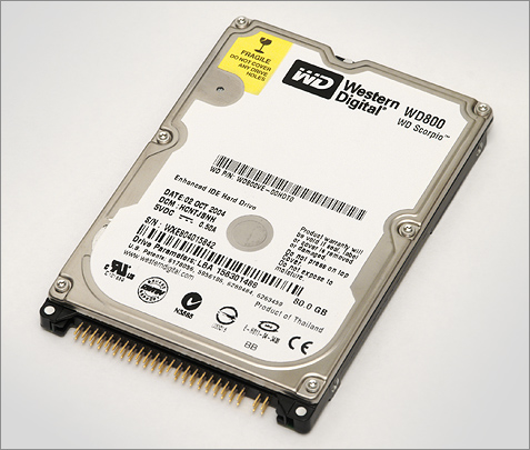 Western Digital Scorpio WD800VE (80GB, 8MB)