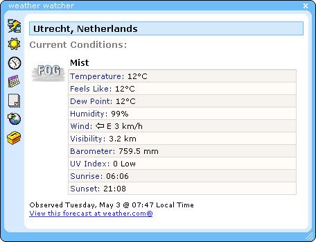 Weather Watcher 5.6 beta 8 screenshot