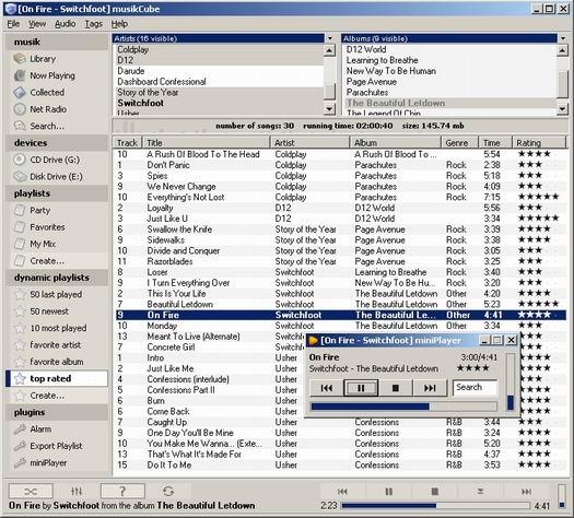musikCube 0.92.3 screenshot (resized)