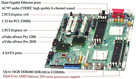 Supermicro H8DCE dual Opteron-moederbord