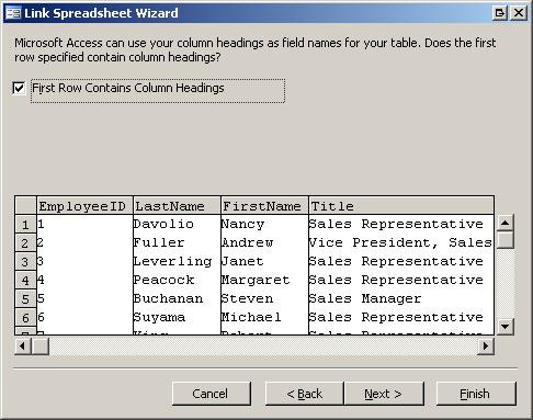 Link leggen tussen Access en Excel
