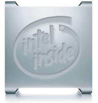 Apple met Intel-inside logo