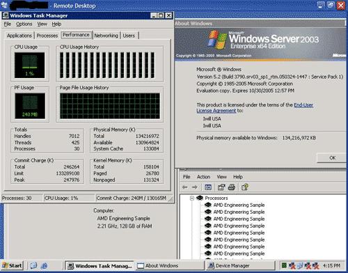 Iwill 16-core Opteron server screenshot