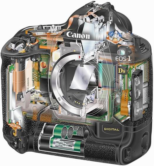 Canon EOS 1Ds van binnen