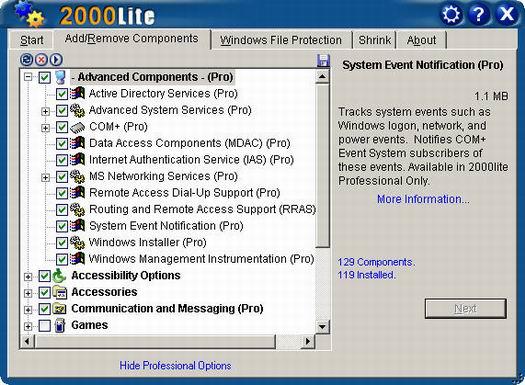 XPlite 1.6 screenshot (resized)