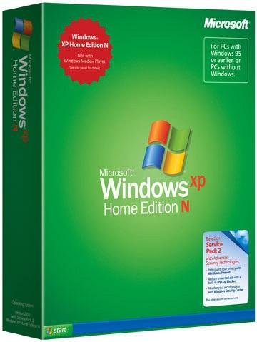 (Gewijzigde) verpakking Windows XP N